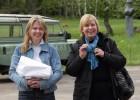 Europos parke mus sutiko L. Karosienė. Šalia jos – LDM filialo LM ISC LIMIS vedėja D. Mukienė. T. Kapočiaus nuotr.