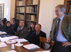 Susitikimo dalyvius sveikina Alinari 24 ORE vadovas Claudio de Polo. Andrea de Polo nuotr.