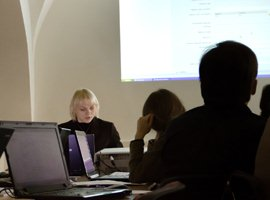 2012 m. sausio 10 d. LIMIS laikinosios programinės įrangos mokymai. T. Kapočiaus nuotr.