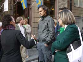 Susitikimo dalyviai ekskursijoje po Stokholmo senamiestį. A. Pulokaitės nuotr.