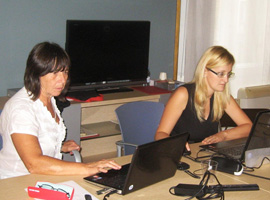 Iš kairės Promoter atstovės Antonella Fresa ir Valentina Bachi