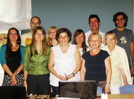 Seminaro dalyvių grupelė