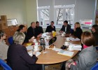Iš kairės į dešinę: S. Ozolina, U. Balode, A. Magone, J. Garjans, D. Saulevičius, E. Adomaitis, L. Anusevičius, D. Mukienė, G. Stankevičiūtė, D. Sirgedaitė