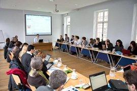 Turinio seminaras Leveno Airiškajame koledže. Bruno Vandermeulen nuotr.