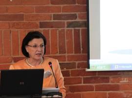 Projekto vadovė, LNB Nacionalinio skaitmeninimo ir virtualios elektroninio paveldo sistemos centro direktorė dr. Regina Varnienė-Janssen. I. Endrijaitienės nuotr.