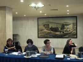 Projekto partneriai iš Parisienne de Photographie (Prancūzija) bei Kultūros paveldo departamento Generalitat de Catalunya (Ispanija). V. Jonkutės nuotr.