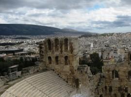 Atėnų simbolio Akropolio ir miesto panoramos fragmentas. V. Jonkutės nuotr.