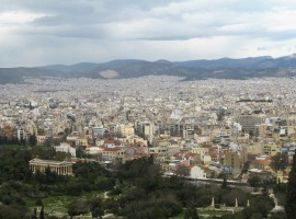 Atėnų miesto panorama. V. Jonkutės nuotr.