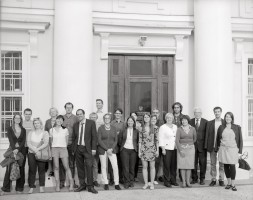 The photo from the fourth EuropeanaPhotography plenary meeting in Vilnius, taken with the old ICA photocamera (Drezden,~1920) by Vaidotas Aukštaitis