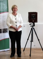 """The exhibition """"The elite of Lithuanian state politics, culture, science, society and its environment from the second half of 19th to the early 20th century"""". Danutė Mukienė. Photo by A. Valužis."""