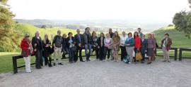 Members of the fourth EuropeanaPhotography plenary meeting visiting Kernavė Archaeological Site. Photo A. Valužis.