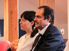 Press conference. Sofie Taes, Frederik Truyen. Photo by A. Valužis.