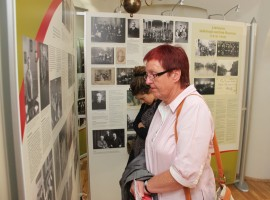 Visitors of the exhibition. Photo by A. Valužio.