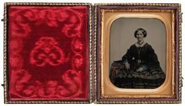 Nežinoma moteris, JAV, 1860 m. © Nacionalinis M. K. Čiurlionio dailės muziejus (Lietuva)