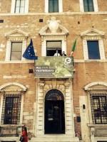 Europeana Photography  koordinatoriai Antonella Fresa ir Fred Truyen Grafikos muziejaus balkone, fot. Antonio Davide Madonna.jpg