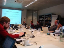 """Projekto """"Europeana Space"""" darbo grupės WP4 susitikimo akimirka. L. Strolytės nuotrauka"""