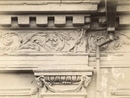 Vokiečių gatvės namo fragmentas. 1913. Fotopopierius, fotografija. Nuotr. Jano Bulhako