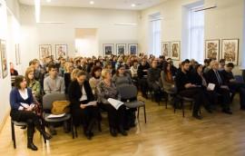 """Konferencijos """"Kultūros paveldo skaitmeninio turinio panaudojimo galimybės plėtojant Lietuvoje turizmą ir didinant muziejų lankytojų skaičių"""" dalyviai. T. Kapočiaus nuotr."""