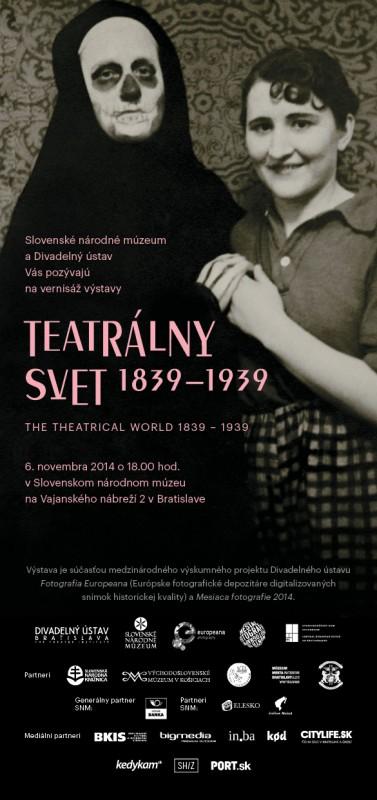 """Parodos """"1839_1939-ųjų teatrališkas pasaulis"""" plakatas"""