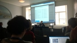 Skaitmeninto kultūros paveldo tolesnio panaudojimo įrankių kūrėjų ir testuotojų susitikimo akimirka. D. Snarskio nuotr.