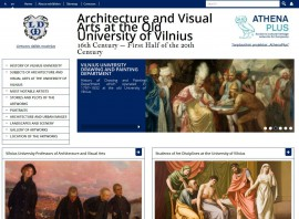 Screenshot of virtual exhibition's Homepage.