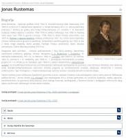 Screenshot of artist's Jan Rustem entity page