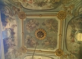 Palau Moja rūmų lubų detalė. D. Snarskio nuotr.